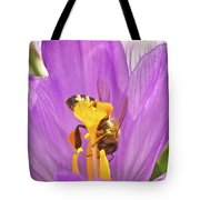 Crocus And The Bee Tote Bag