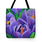 Crocus Flowers Tote Bag