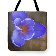 Crocus Focus Stacked 3 Tote Bag