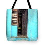 Crooked Blue Tote Bag