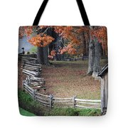 Crooked Fence Tote Bag