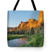 Crooked River And Monkey Face At Smith Rock Tote Bag