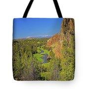 Crooked River And Mt Hood Oregon Tote Bag