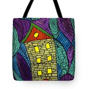 Crooked Yellow Brick House Tote Bag