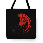 Crop Circle Formation Near Avebury Stone Circle In Wiltshire England In Red Tote Bag