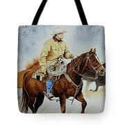Cropped Ranch Rider Tote Bag
