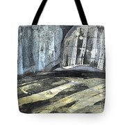 Crops And Clouds Original Wax Encaustic Painting Tote Bag