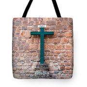 Cross And Cusco Cathedreal Tote Bag