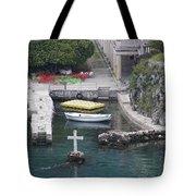 Cross In A Harbor Tote Bag