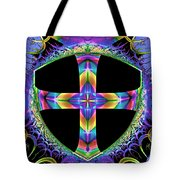 Cross Of One Way To God Tote Bag