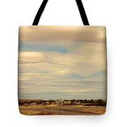 Cross Road In New Mexico Tote Bag