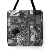 Cross Series IIi In Black And White Tote Bag