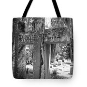 Cross Series Iv In Black And White  Tote Bag