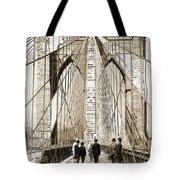 Cross That Bridge Vintage Photo Art Tote Bag