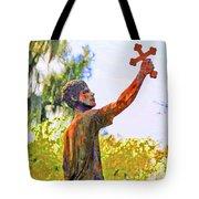 Cross To The Sky Tote Bag