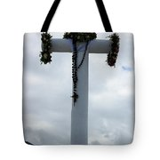 Cross With Flower Wreaths Tote Bag