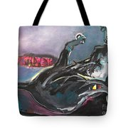 Crossed Eyed Cat Tote Bag
