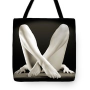Crossed Legs Tote Bag