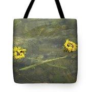 Crossed Sunflower  Tote Bag