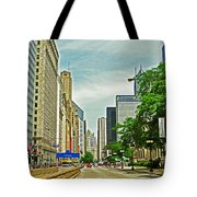 Crossing Chicago's South Michigan Avenue Tote Bag