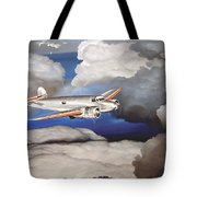 Crossing Over  Amelia Earharts Final Flight Tote Bag