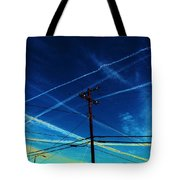 Crossing Points Tote Bag
