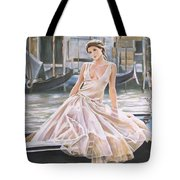 Crossing The Canal Tote Bag