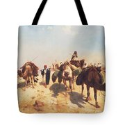 Crossing The Desert Tote Bag by Jean Leon Gerome