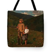 Crossing The Pasture Tote Bag