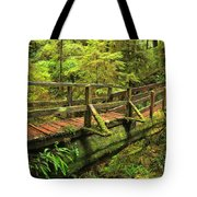 Crossing The Rainforest Ravine Tote Bag
