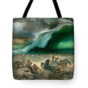 Crossing The Red Sea Tote Bag by Anonymous