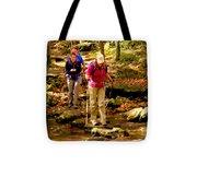 People Series - Crossing The Stream Tote Bag