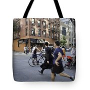 Crossing The Street In Dumbo Tote Bag