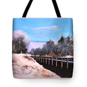 Crossing The Wash Tote Bag