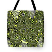 Crossing White Lines Abstract Tote Bag
