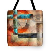 Crossroads Abstract Tote Bag