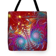 Crossroads Of The Worlds Tote Bag