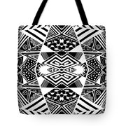 Crossroads To Ornamental - Abstract Black And White Graphic Drawing Tote Bag