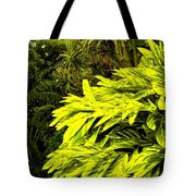 Croton Cascading Down The Hillside Tote Bag