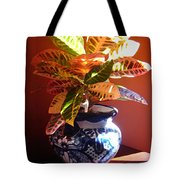 Croton In Talavera Pot Tote Bag