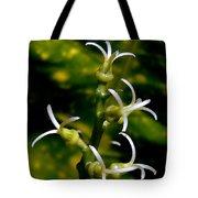 Croton Tender White Flowers Tote Bag