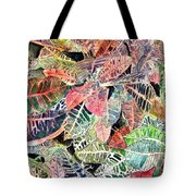 Croton Tropical Art Print Tote Bag
