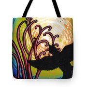Crow And Full Moon In Winter Tote Bag