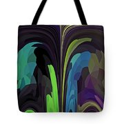 Crow Converses With Eagle Tote Bag