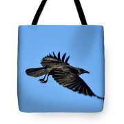 Crow Flyby Tote Bag