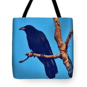 Crow In A Tree Tote Bag