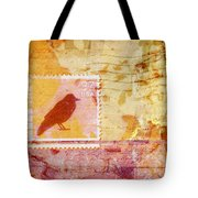 Crow In Orange And Pink Tote Bag