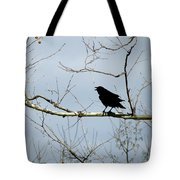 Crow In Sycamore Tote Bag