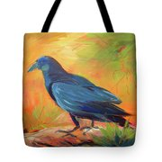 Crow In The Grass 7 Tote Bag