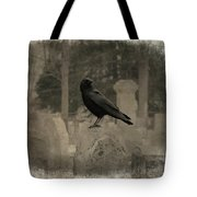 Crow In The Old Graveyard Mix Tote Bag